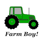 Farm Boy Green Tractor
