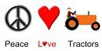 Peace Love Orange Tractor