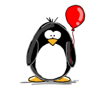 Red Balloon Penguin