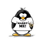 Marry Me Penguin with Ring