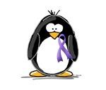 Purple Ribbon Penguin
