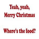 Where's the food, pregnant christmas