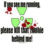 Running, kill zombie