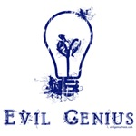 Evil genius idea lightbulb