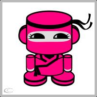 Hot Pink Ninja O'bot
