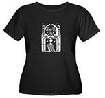 Women's Plus Size Scoop-Neck Black T-Shirts