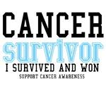Cancer Survivor T-Shirts (Light Blue)