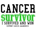 Cancer Survivor T-Shirts (Green)