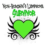 Non-Hodgkin's Lymphoma Survivor Tattoo Shirts