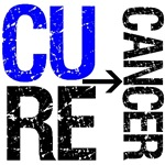 Cure (Colon) Cancer Grunge Gear, Shirts & Gifts