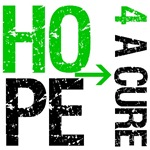 Hope 4 a Cure Kidney Cancer Green T-Shirts &amp; Gifts
