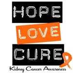 Hope Love Cure Kidney Cancer Shirts & Gifts
