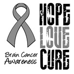 Hope Love Cure Brain Cancer Shirts &amp; Gifts