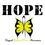 Hope Butterfly Bladder Cancer Shirts & Gifts