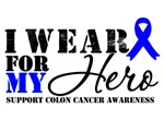 I Wear a Blue Ribbon For My Hero - Colon Cancer