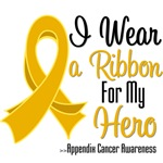 I Wear a Ribbon For My Hero Appendix Cancer Shirts