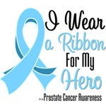 I Wear a Ribbon For My Hero Prostate Cancer Shirts
