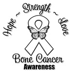 Hope Love Strength Bone Cancer Shirts