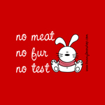 No Meat, No fur, No test...