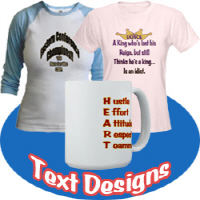 Text and joke designs