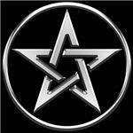 Silver Circle Pentagram