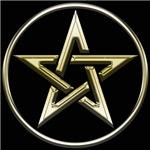 Gold Circle Pentagram