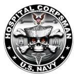 USN Hospital Corpsman Skull HM