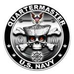 USN Quartermaster Skull QM