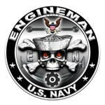 USN Engineman Skull EN