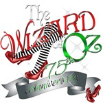 75th Anniversary Wizard of Oz Movie Red Shoes