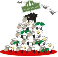Funny Sheep Christmas Tree