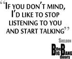 Big Bang Theory Stop Listening