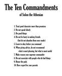 Solon's Ten Commandments