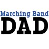 Marching Band Dad - blue
