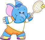 Lil Blue Elephant Tennis