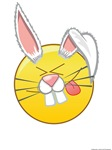 Happy Face Easter Bunny