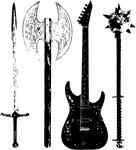 Guitar Bass Music Rock and Roll Concert Band Metal