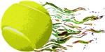 Tennis Ball Flames Artistic US Open Wimbleton