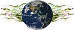 Planet Earth Space World Green Organic