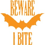 Beware I Bite orange