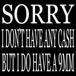 NO CASH!