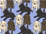 NEW! Allover Labradors Design