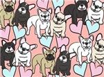 NEW!!  Allover French Bulldogs Design