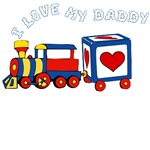 I Love My Daddy Train T-Shirts