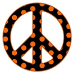 Black and Orange Peace Sign T-Shirts