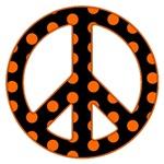 Black and Orange Peace Sign T-Shirts