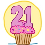 21st Birthday Cupcake T-Shirts