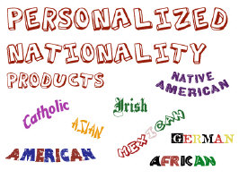 Personalized Nationality Products