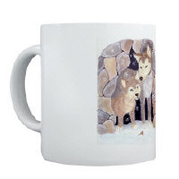Wolf mugs