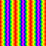 Rainbow vertical ripple